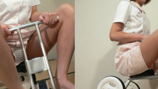 Beauty nurse traveling on a tricycle today! #2