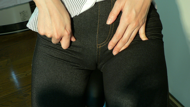 Semen topped jeans crotch on the saddle! #1