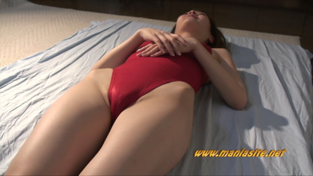 Ena's soft red swimsuit semen buckwheat! #1