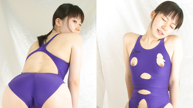 Beautiful college student Arisa 's back crotch and clipping swimsuit vibs blame!