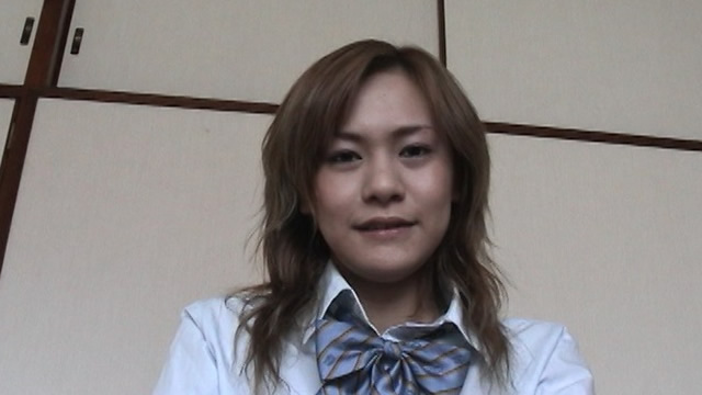 Slender uniform Beauty Rui! Break time just before the blowjob!