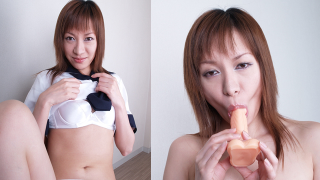 Blowjob with pseudo cock in milf Rumi sailor suit! #2