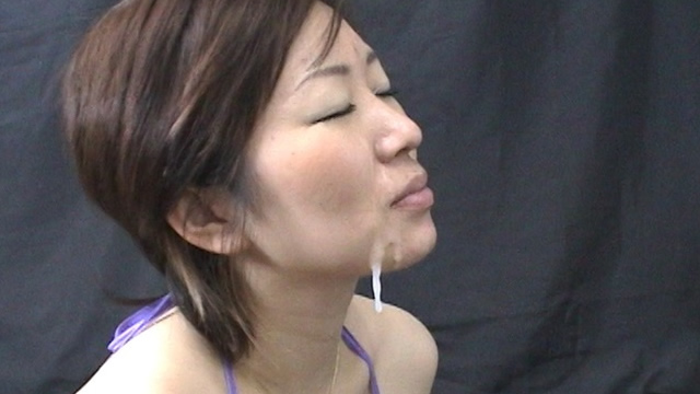 Miho is staring from under blowjob thick semen Facial! #2