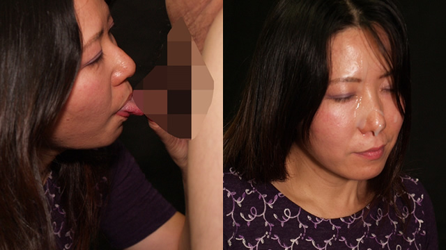 A marvelous black hair married woman has too much eroticism facial from kissing handjob / blowjob! ! #2