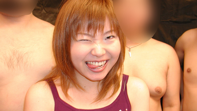 Continuous mouth ejaculation, facial shot, bukkake off party of girls' university Kaori! #1