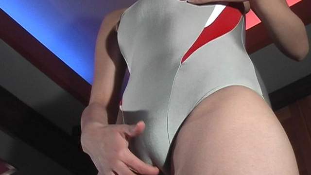 Standing masturbation in swimsuit! #1