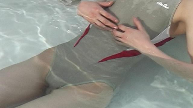 Wet swimsuit prime Camel toe surface #1