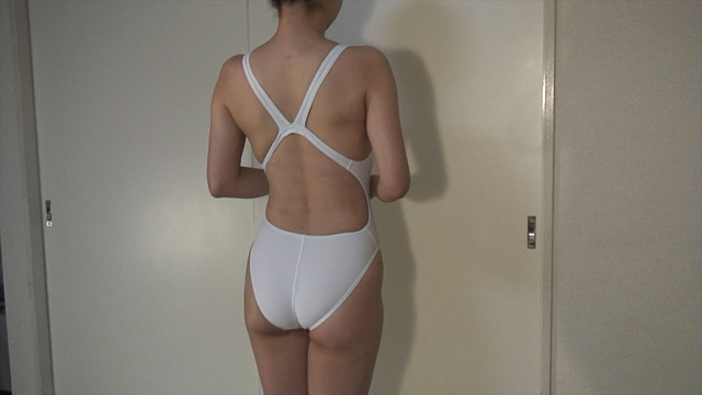 White swimsuit and married woman erotic body!