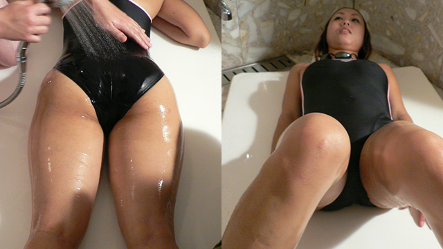 Lotion massage a woman in a swimsuit! ! #3