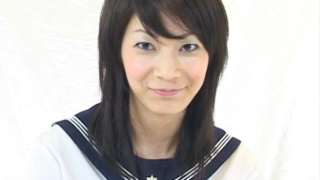 A sexy girl Miwa-chan's sailor suit interview underwear!