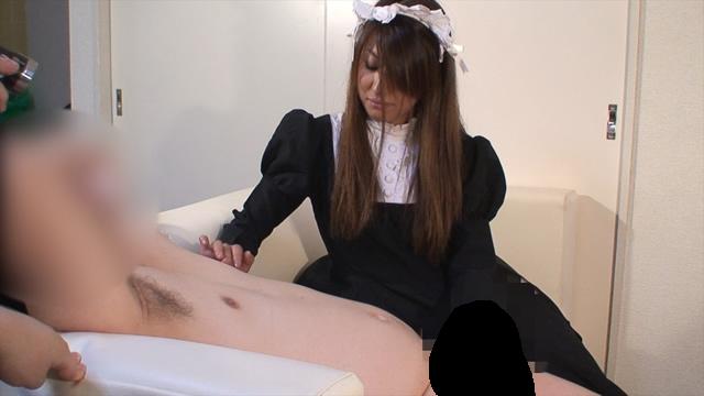 Slender Maid Yu's Shameful Handjob! Sub camera version #2