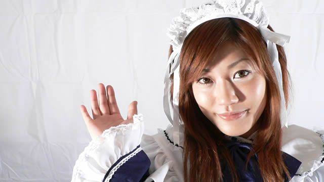 Tanaka Maid Cute image shot with heavy maid clothes!