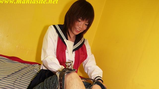 Sailor suit Chiaki's hard working handjob blowjob! #1