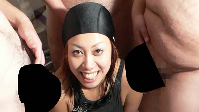 A swimmer surrounded by dicks! #1