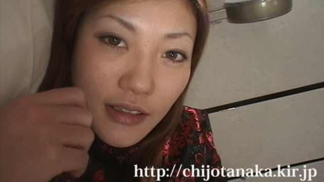Tanaka in a black cheongsam is Deredere Blow & Handjob!