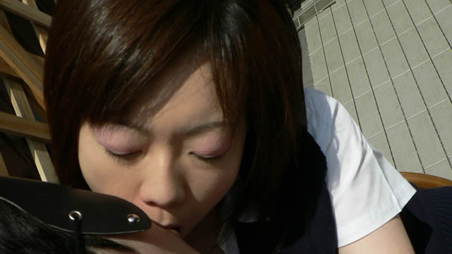Haruka is nostalgic, wearing a uniform and a thick kiss! #2