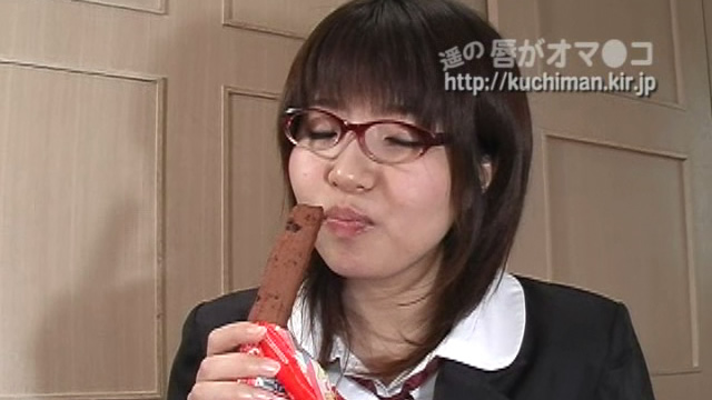 Chairperson's snack time! Let's put a cream on confectionery and make a blowjob! #1