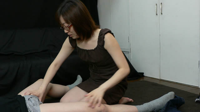 Kiss handjob over jeans! In addition fellatio cum in mouth! #2
