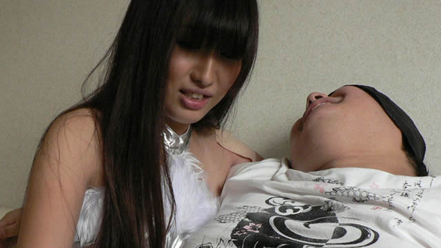 To a beautiful girl with long hair, a long kiss and a handjob #4