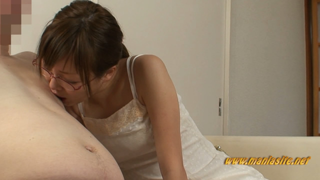 Ena handjobs from the top of his pants while licking a man's nipples! #1