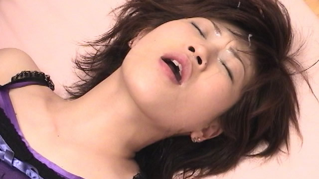 Lay down the sexy camisole Masako and shoot a rich bukkake face! #3