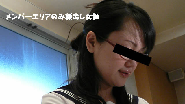 Cute glasses sailor suit Shy handjob of a married woman! #1