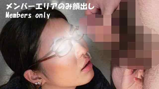 Semen facial cumshots on Yu-chan who is licking balls! One more shot! #4
