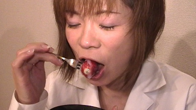 Ultimate Cum eating! Cum strawberry