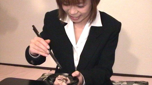 The ultimate cum eating! The fire in Chiemi who are eating red rice! #1