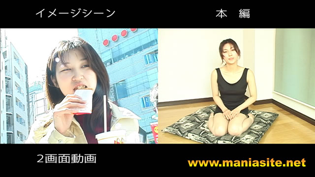 Innocent semen play of fair-skinned beautiful girl raised in Tohoku! (Two-screen video)